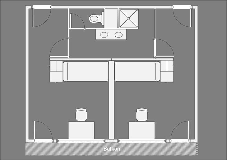 Chambre simple avec salle de bain com. – Bildungszentrum ...